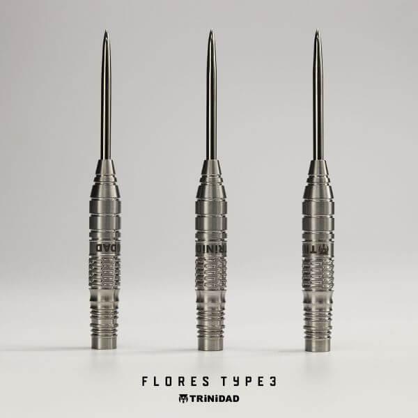 【チップ&送料無料】【トリニダード】Flores Type3 フローレス3 スティール22g 近藤静加選手 ダーツ バレル