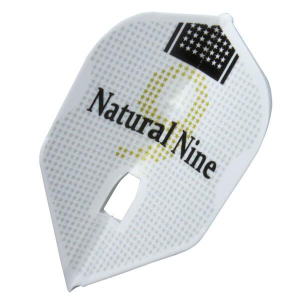 【ナチュラルナイン】ナインスター | ホワイト | シェイプ | ダーツ フライト