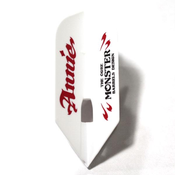 【L-style エルスタイル】アニーver.1   スリム   ホワイト   橋本守容選手   ダーツ フライト