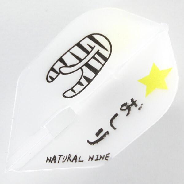 【ナチュラルナイン】アニマルヒップ | クリアホワイト | シェイプ | ダーツ フライト