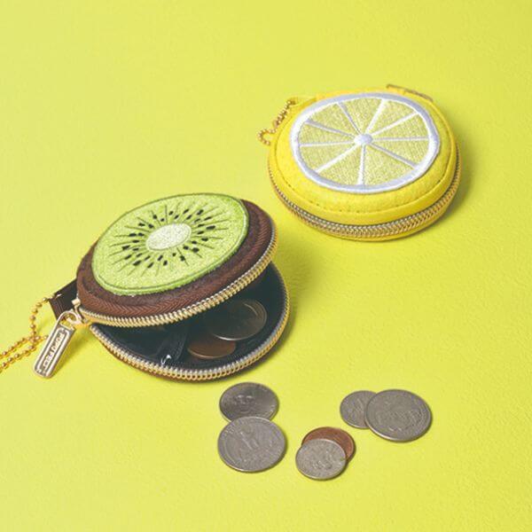 【ピージーデザイン】PUPU FELT コインケース フルーツ  | レモン | ダーツ小物ケース | チップケース