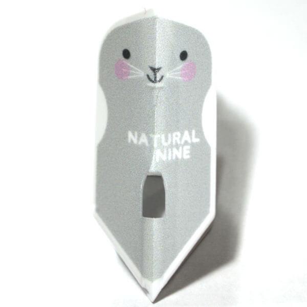 【ナチュラルナイン】アニランド ペンギン・ブタ・ネズミ   ホワイト   スリム   ダーツ フライト