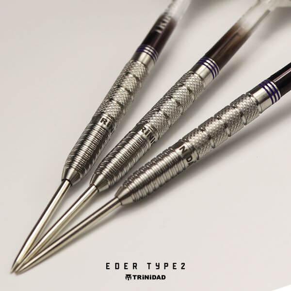 【チップ&送料無料】【トリニダード】Eder type2 エデル2 スティール21.5g 吉野洋幸選手 ハードダーツ バレル