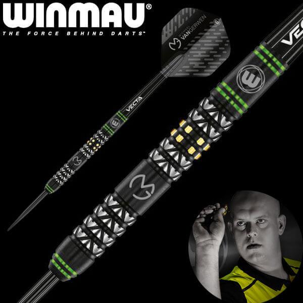【チップ&送料無料】【Winmau】MvG Vantage ヴァンテージ   スティール22.0g   マイケルヴァンガーウェン選手   ハードダーツ バレル