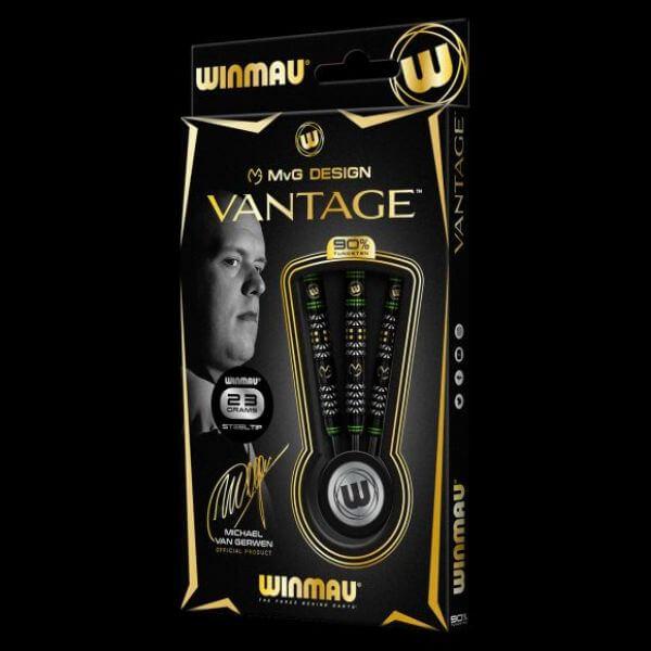 【チップ&送料無料】【Winmau】MvG Vantage ヴァンテージ   スティール23.0g   マイケルヴァンガーウェン選手   ハードダーツ バレル