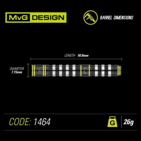 【チップ&送料無料】【Winmau】MvG Assault アサルト | スティール26.0g | マイケルヴァンガーウェン選手 | ハードダーツ バレル