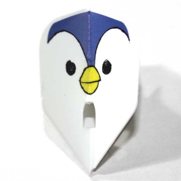 【エルスタイル】【ナチュラルナイン】鳥家族 / シェイプ / ホワイト / ダーツ フライト