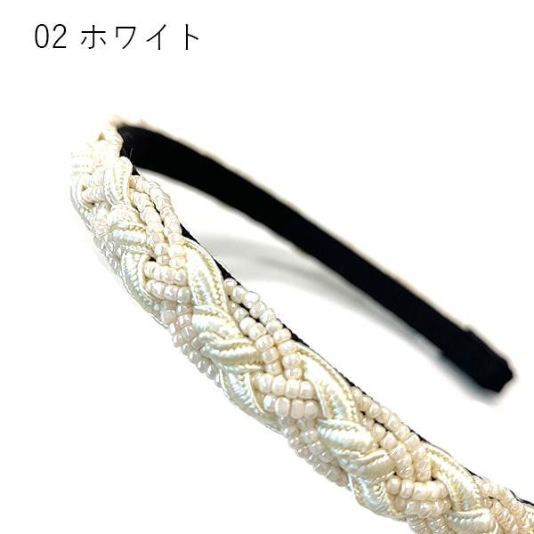 【セール品】レーヌ・クロード ブレードビーズカチューシャ (品番157813)