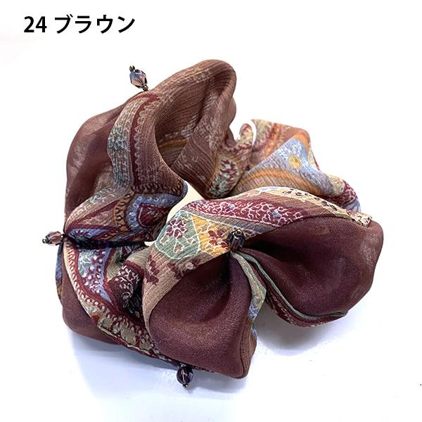 【セール品】レーヌ・クロード ペイズリーオーガンジーシュシュ 品番157280