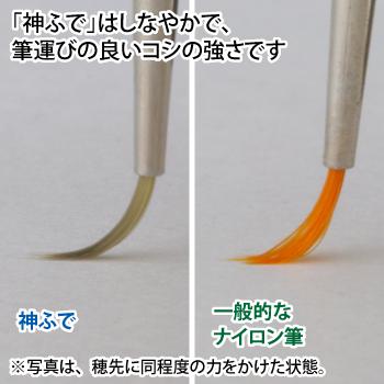 ゴッドハンド 神ふで 斜め筆M (専用キャップ付) 日本製 模型用 太筆 斜筆 スラント筆 塗装筆