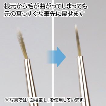 ゴッドハンド 神ふで 平丸筆 (専用キャップ付) 日本製 模型用 丸平 塗装筆