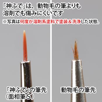 ゴッドハンド 神ふで うぶげ 平丸筆M 直販限定 日本製 模型用 筆