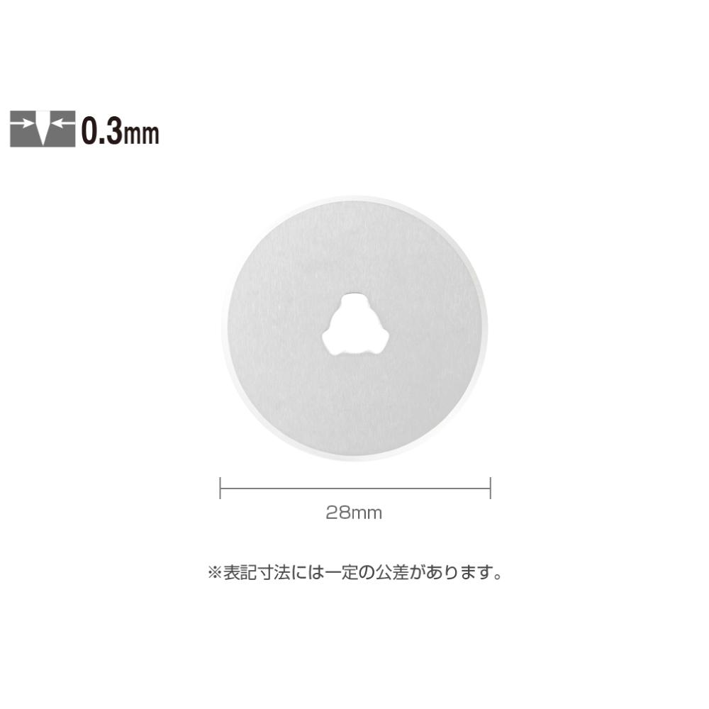 オルファ 円形刃28ミリ替刃 2枚入 取寄品