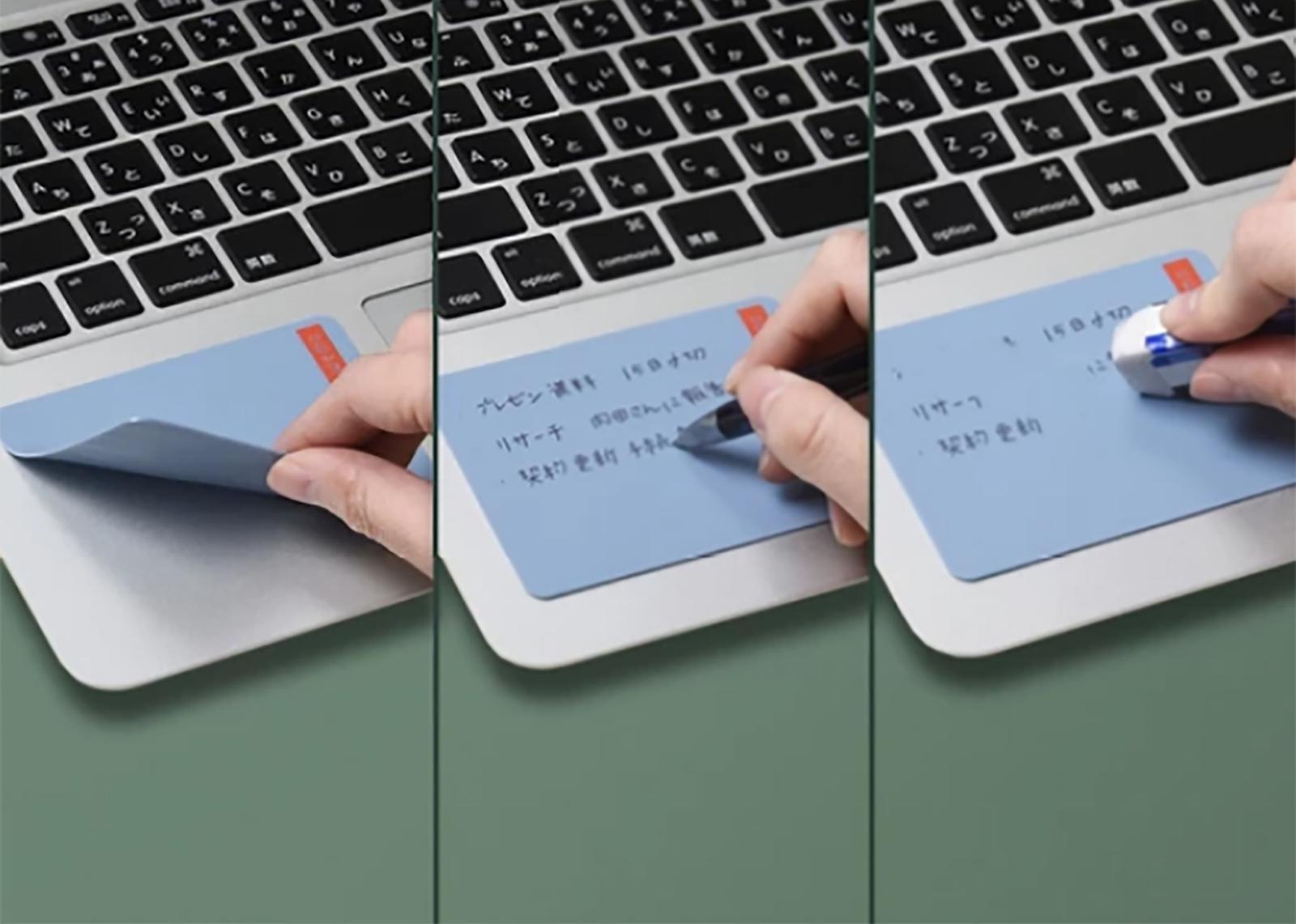 コスモテック WEMO パッドタイプ Sサイズ 1枚入 各種 シリコン メモ 消せる 貼る ノートパソコン スマホ 机