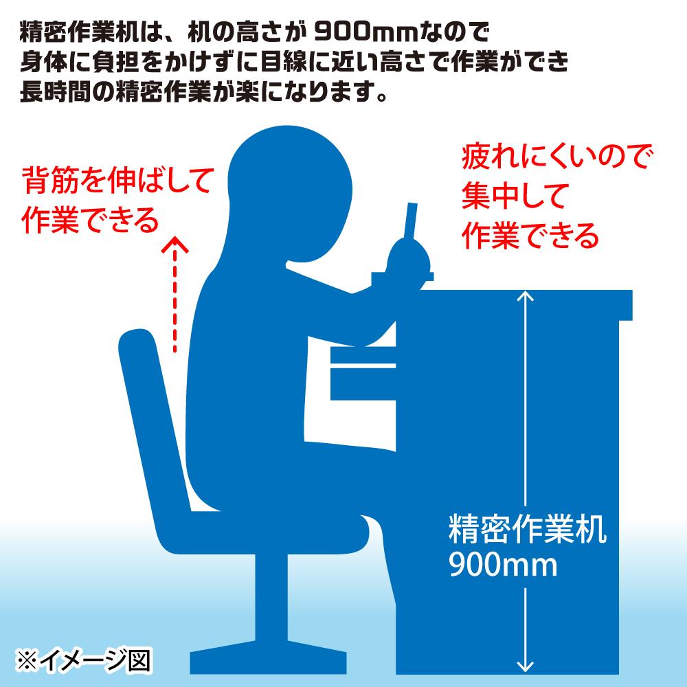 【送料無料】 メーカー直送品 小次郎 精密作業机 袖無しDX 各種 ネコポス非対応
