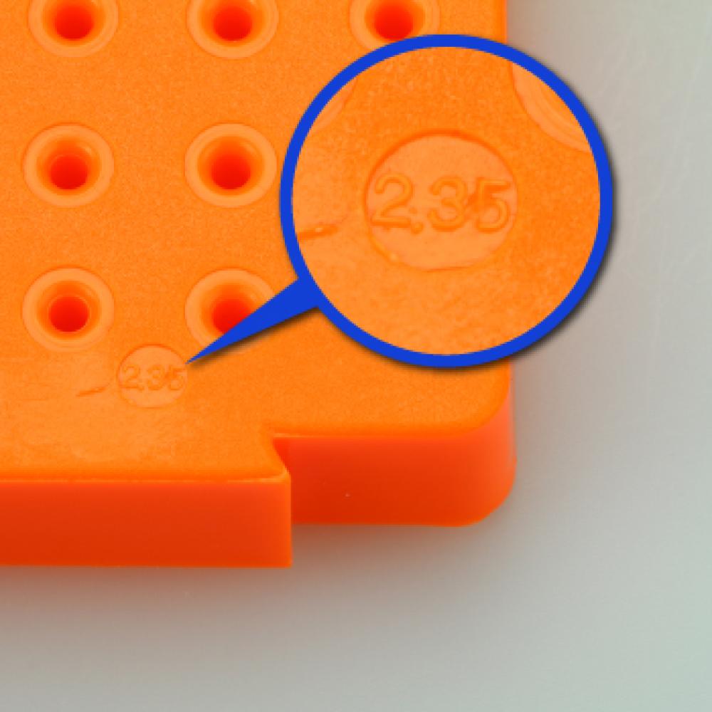 イチネンMTM RELIEF 連結型・パーツスタンド 40穴 Φ2.35mm 収納 保管 ビット