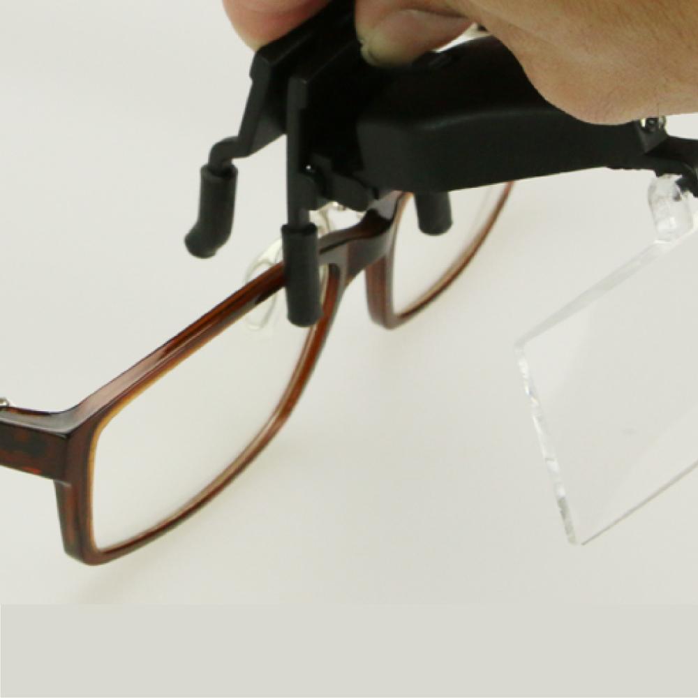 シーフォース LEDクリップ式ルーペ DX157  9157-2 ネコポス非対応 ルーペ 眼鏡 拡大鏡