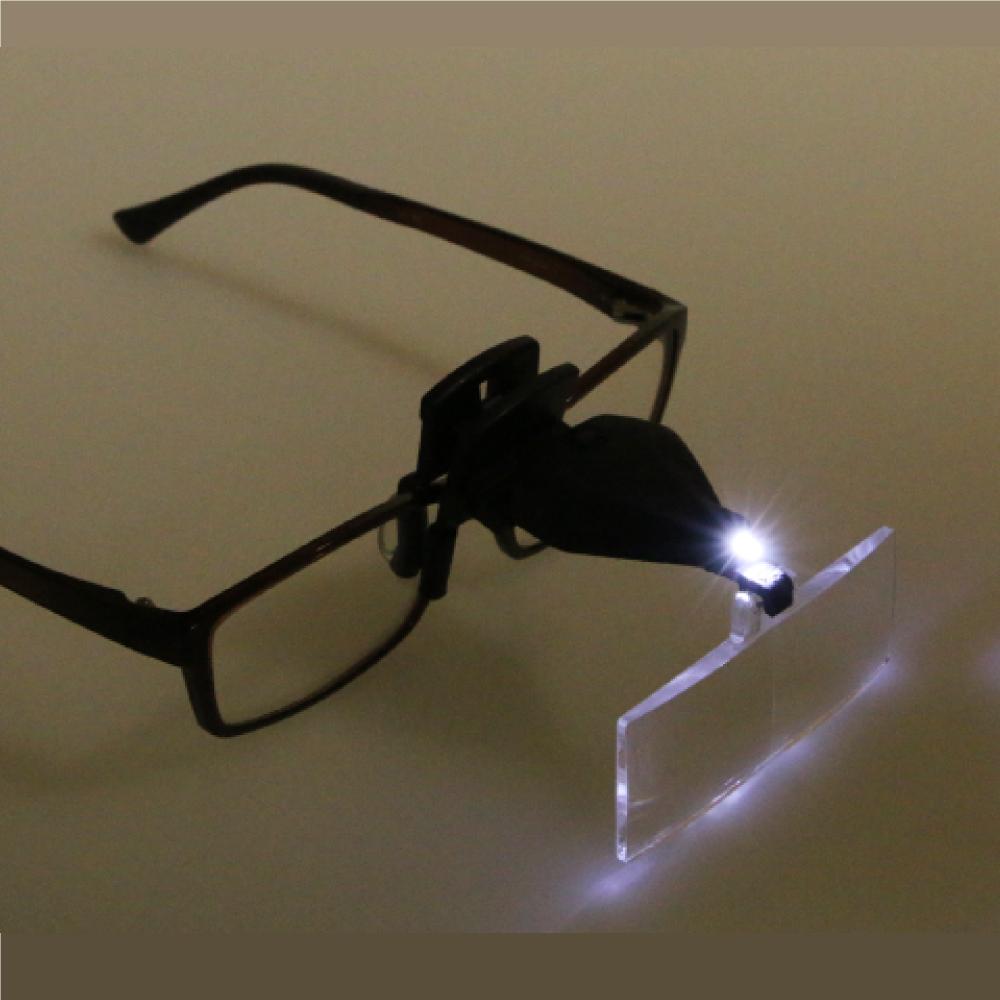 LEDクリップ式ルーペ DX157  9157-2 ネコポス非対応 ルーペ 眼鏡 拡大鏡 S&F