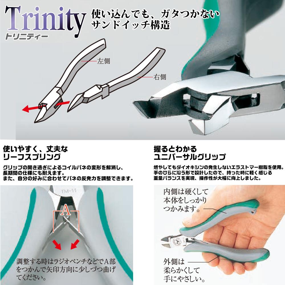 ツノダ トリニティー ラジオペンチ150mm バネ付 取寄品