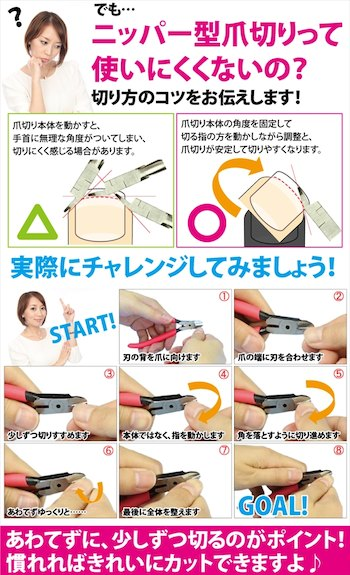 ゴッドハンド 幸せの爪切り 日本製 ネイルニッパー 爪切り ニッパー型 巻き爪 燕三条