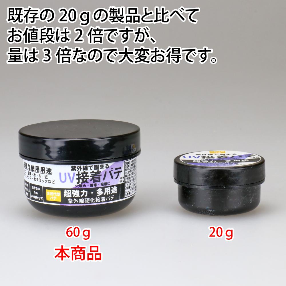 UV接着パテ UVPT ハード 60g ネコポス非対応 UV硬化 ペースト S&F