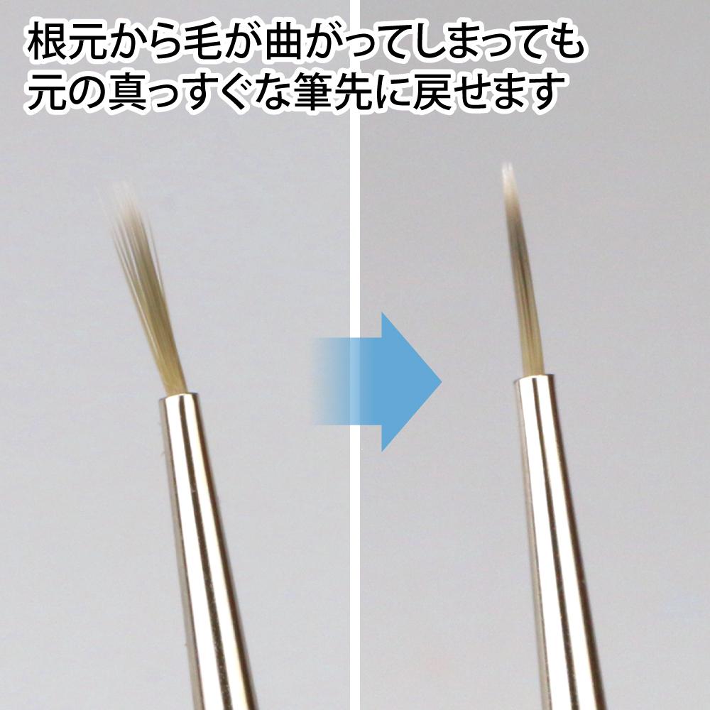 ゴッドハンド 神ふで 面相筆S (専用キャップ付) 日本製 模型用 極小筆 極細筆 塗装筆