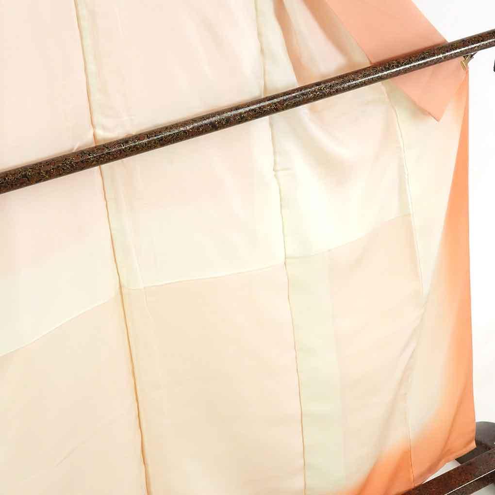 リサイクル着物 小紋 / 正絹ピンク地地紋起こし袷小紋着物 レディース 秋冬春用 シルク ピンク 裄Mサイズ身丈162cm 裄65cm 前幅24cm 後幅28cm 袖丈56cm【ランクA】