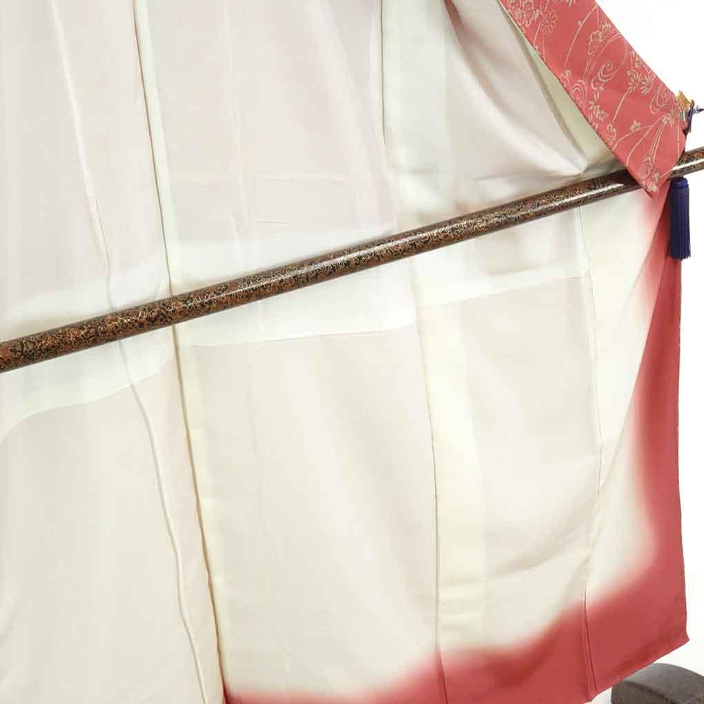 リサイクル着物 訪問着 / 正絹ローズピンク地袷付下訪問着着物 レディース 秋冬春用 シルク ピンク 裄Sサイズ身丈148cm 裄62cm 前幅22cm 後幅30cm 袖丈45cm【ランクA】