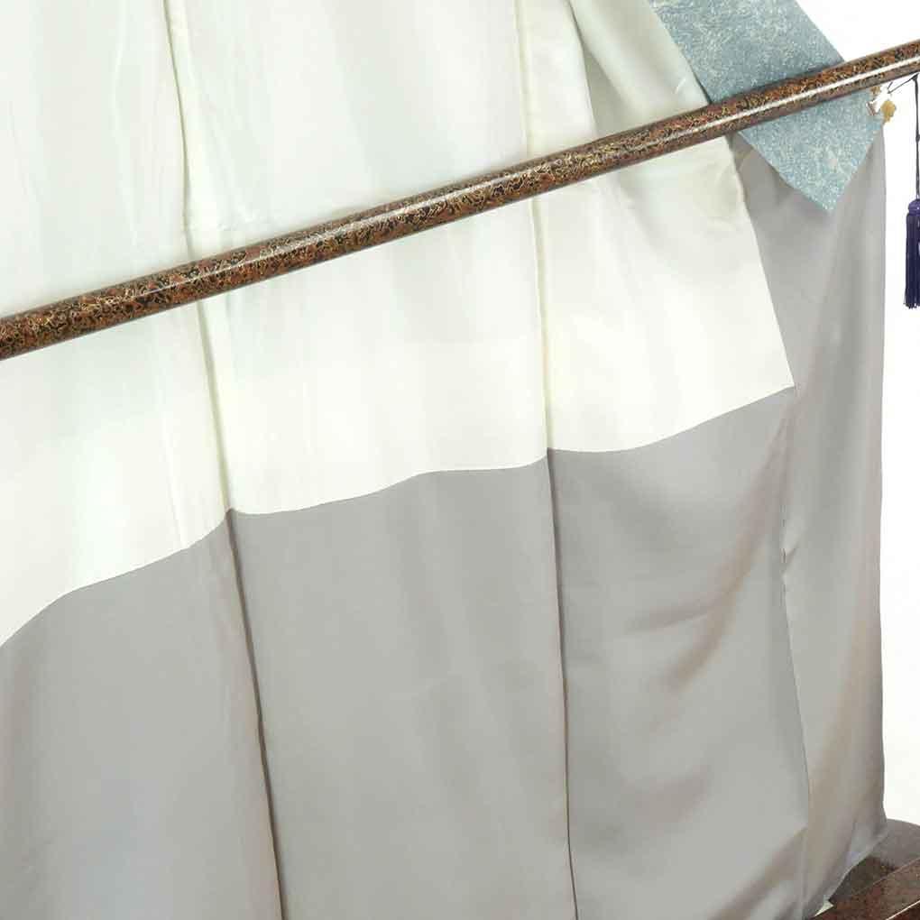 リサイクル着物 小紋 / 正絹薄ブルー地たたき染袷小紋着物 レディース 秋冬春用 シルク ブルー 裄Mサイズ身丈161cm 裄64cm 前幅23cm 後幅30cm 袖丈47cm【ランクB】