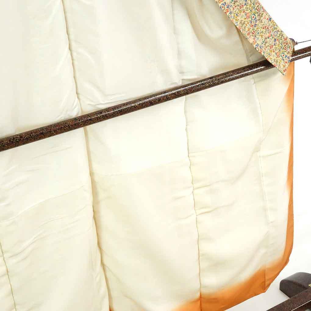 リサイクル着物 小紋 / 正絹黄色地花柄袷小紋着物未使用品 レディース 秋冬春用 シルク イエロー 裄Sサイズ身丈153cm 裄62cm 前幅22cm 後幅29.5cm 袖丈48cm【ランクS】