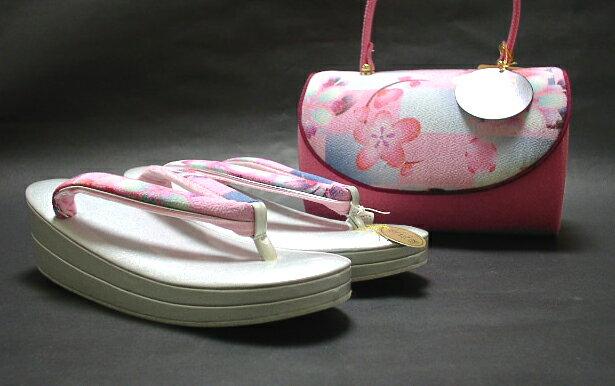 振袖用草履バッグセット ピンクのバッグ【!】【新品】