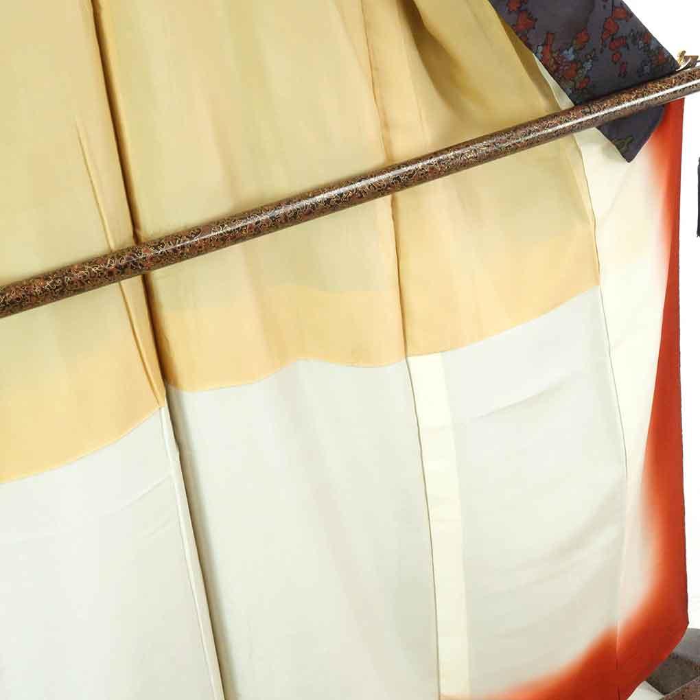 リサイクル着物 小紋 / 正絹紫グレー地花柄袷小紋着物 レディース 秋冬春用 シルク パープル 裄Sサイズ身丈159cm 裄62cm 前幅25cm 後幅30cm 袖丈46cm【ランクA】