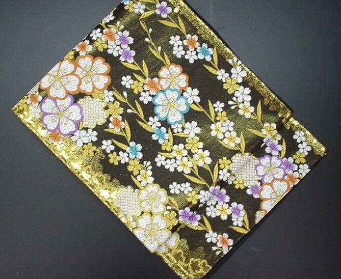 黒地に細かい桜の柄の振袖用袋帯【!】【新品】