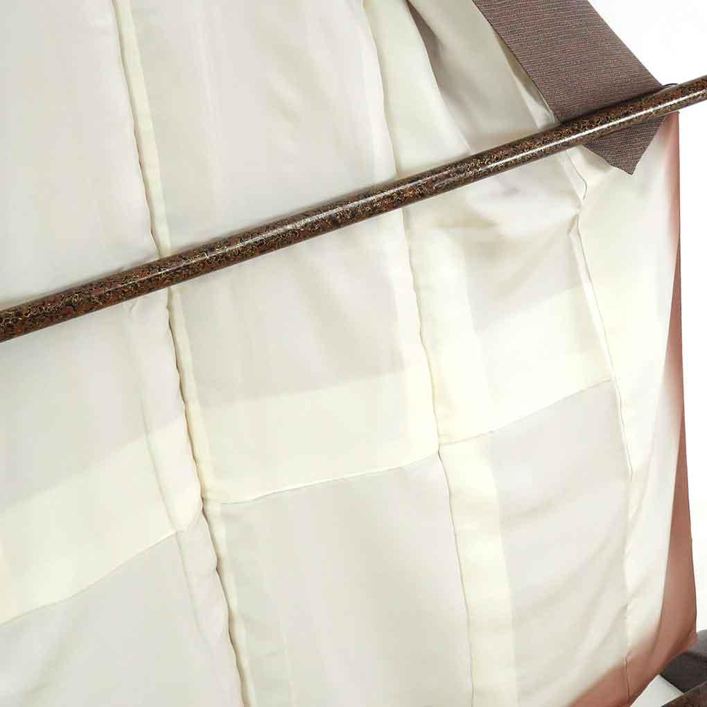 リサイクル着物 小紋 / 正絹グレー地染鹿の子柄袷小紋着物 レディース 秋冬春用 シルク グレー 裄Sサイズ身丈159cm 裄61cm 前幅24cm 後幅29cm 袖丈49cm【ランクA】