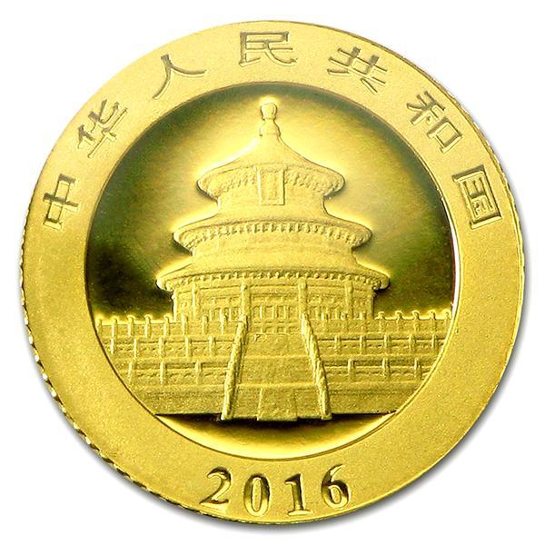 パンダ金貨 1g 2016年製