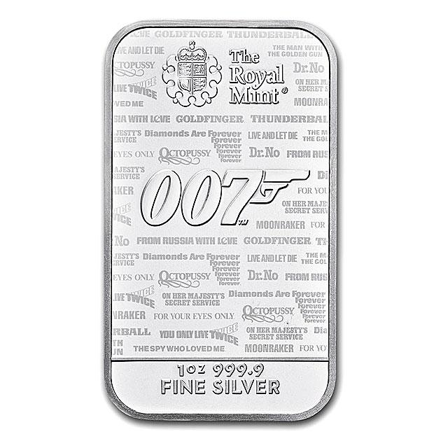 007 ジェームズ・ボンド シルバーバー 1オンス