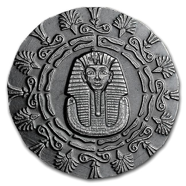 ツタンカーメン銀貨 1/4オンス クリアケース入り モナーク プレシャス メタル発行 7.77gの純銀 保証書付き
