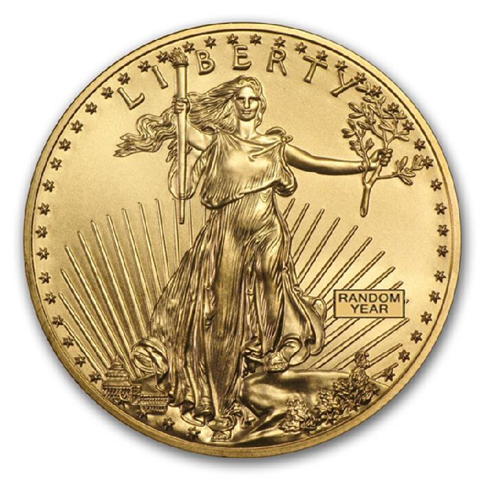 イーグル金貨 1オンス クリアケース入り (ランダム・イヤー)  アメリカ造幣局発行 保証書付き