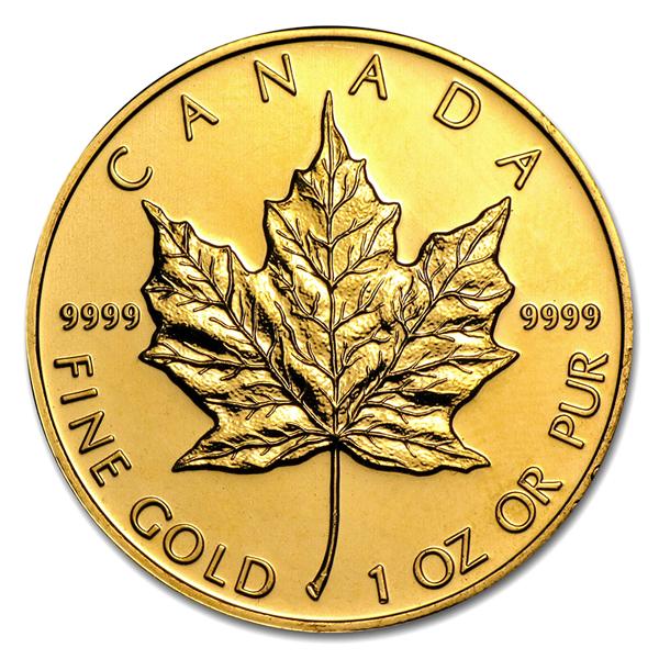 メイプル金貨 1オンス ランダムイヤー カナダ王室造幣局発行  保証書付き