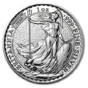 ブリタニア銀貨 1オンス クリアケース入り ランダム・イヤー イギリス王立造幣局発行 純銀の公式な銀貨