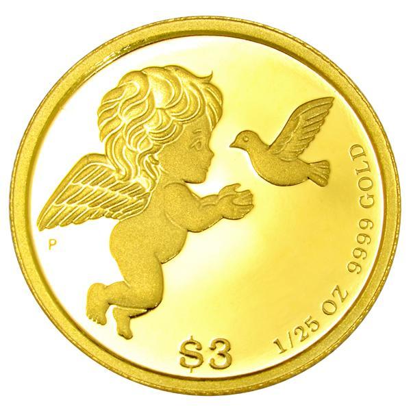 ツバルエンジェル金貨 1/25オンス 2020年製