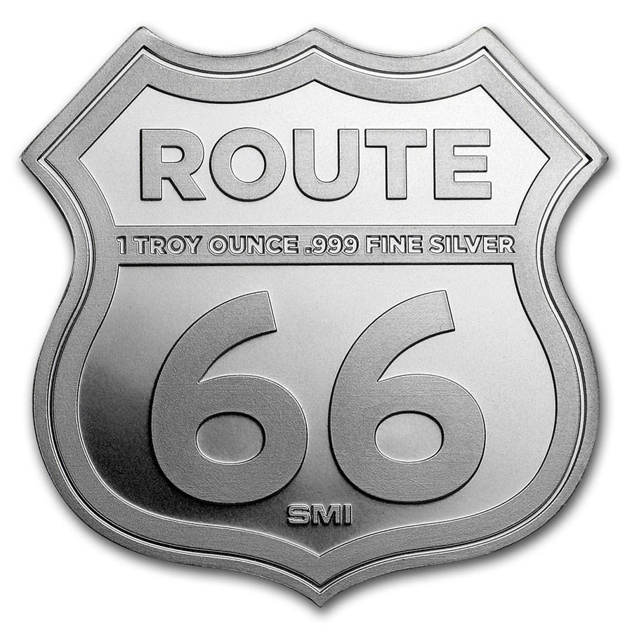 ルート66シルバーバー 1オンス  シールド (ニューメキシコ州)