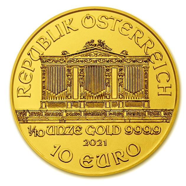 ウィーン金貨 1/10オンス 2021年製