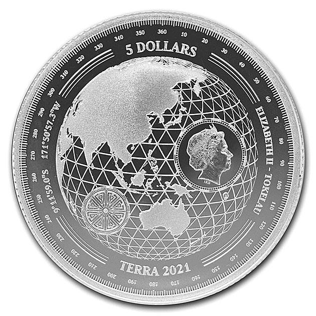 テラ銀貨 1オンス 2021年製
