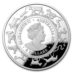 オーストラリア 干支丑銀貨 1オンス 2021年製
