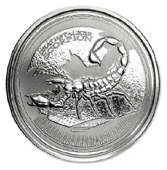 スコーピオン銀貨 1オンス 2017年 クリアケース入り  チャド共和国発行 保証書付き