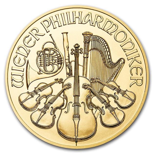 ウィーン金貨 1/25オンス  ランダム・イヤー オーストリア造幣局発行