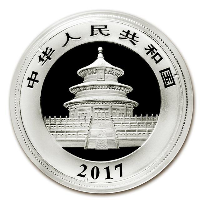 パンダ銀貨 30g 2017年製 クリアケース入り 中国人民銀行発行 30gの純銀