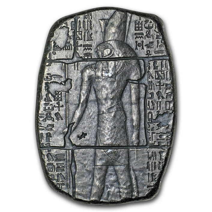 エジプト神ホルス シルバーバー 3オンス 特製巾着袋付き