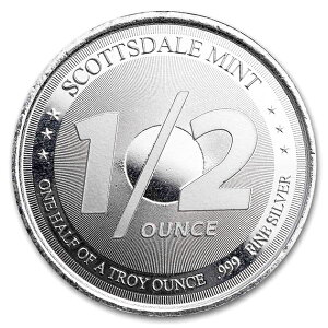 スコッツデール ライオン 純銀コイン 1/2オンス クリアケース入り